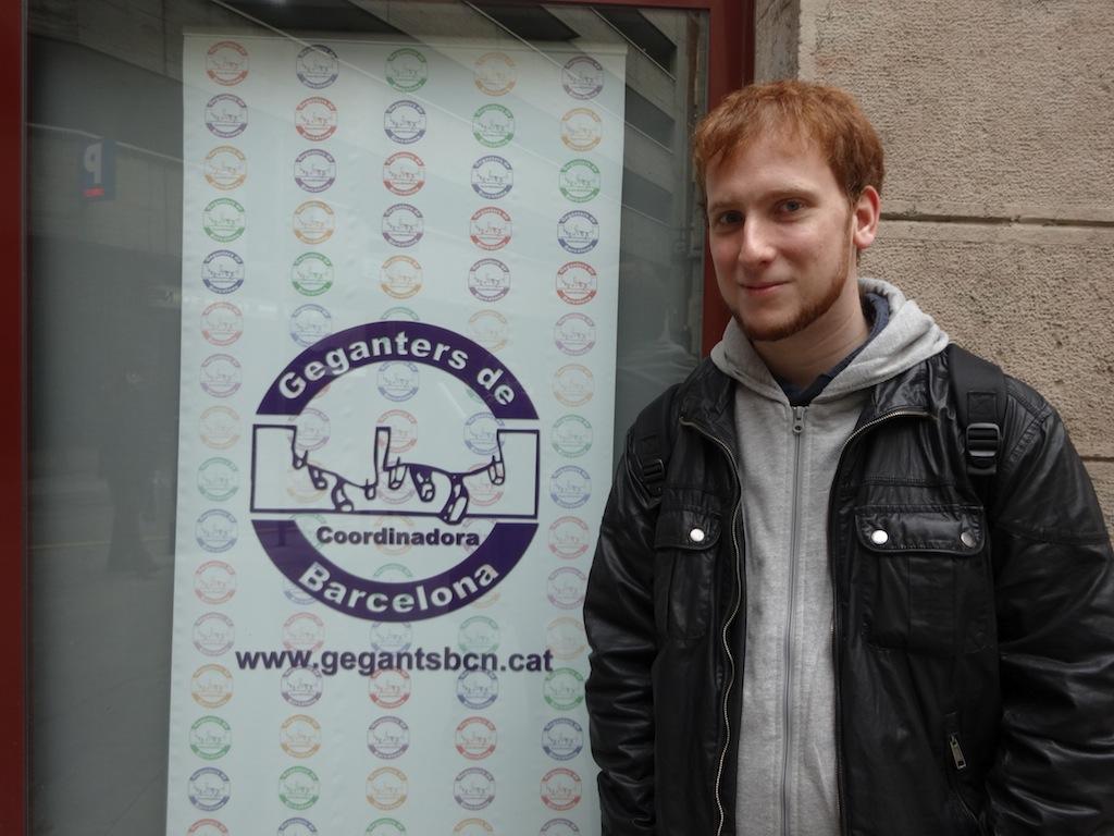 Nico Alonso, secretari de la Coordinadora de geganters de Barcelona